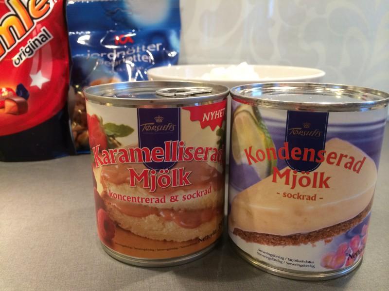 Förvillande lika burkar! Karamelliserad mjölk =kokt Kondenserad mjölk =okokt